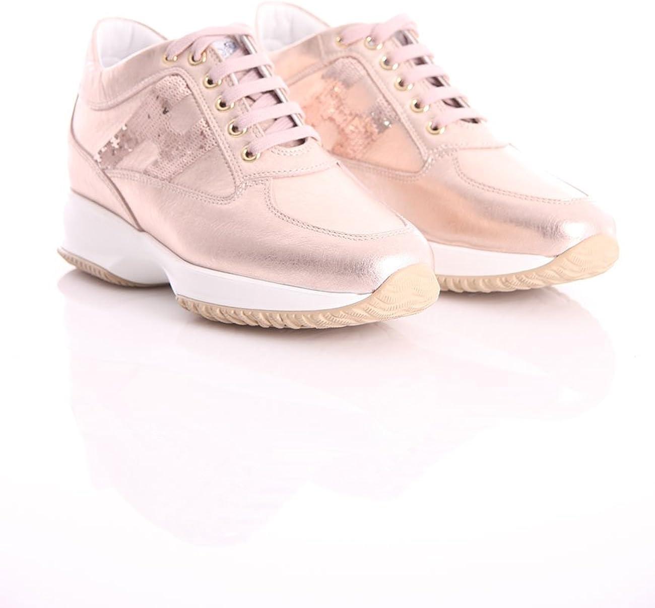 Donna. Hogan Interactive Colore Oro Rosa Sneaker e scarpe sportive ...