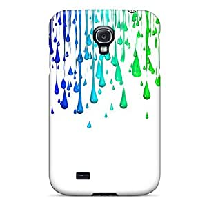 New Premium Flip Case Cover Colorful Drops Skin Case For Galaxy S4
