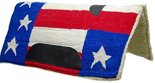 Tahoe Tack Patriotic American Flag Shock Absorbing Western Horse Saddle Pad - 32x32?