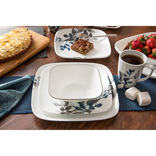 Corelle Boutique Square Kyoto Night 16-Piece Dinnerware Set, Service for 4 by Corelle (Image #5)