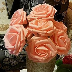 10Pcs Artificial Rose Flowers Head Party Wedding Bridal Bouquet Home Decoration Black 5
