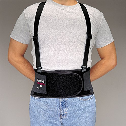 (Allegro 7190-03 - SpanBak Back Support Belt w/Suspenders, Size: Large, Belt Closure Type: Hook & Loop, Color Black)