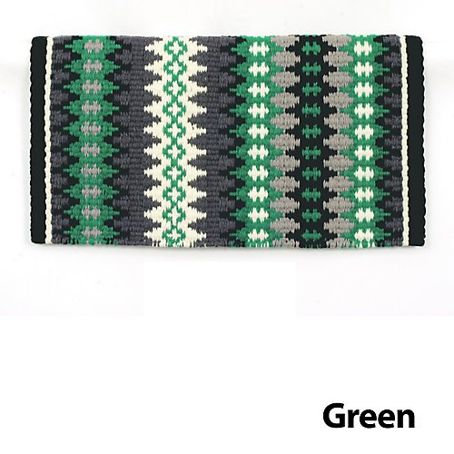 Mayatex Nova New Zealand Wool Saddle Blanket Green