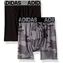 adidas Boys / Youth  Sport Performance Climalite Boxer Brief Underwear (2-Pack)