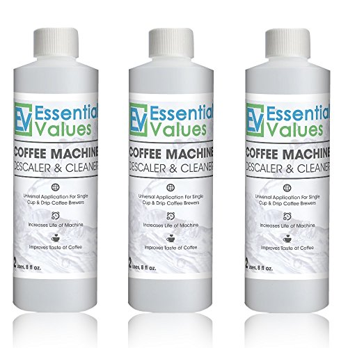 Keurig Descaler (3 PACK), Universal Descaling Solution For Keurig, Delonghi, Nespresso And All Single Use, Coffee Pot & Espresso Machines By Essential Values …