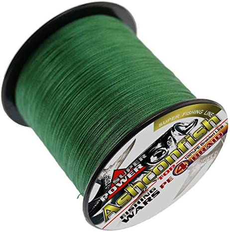 Braided Fishing Line-4 Strands Super Strong PE Fishing Wire Multifilament Fishing String Ultra Power for Saltwater Freshwater Fishing