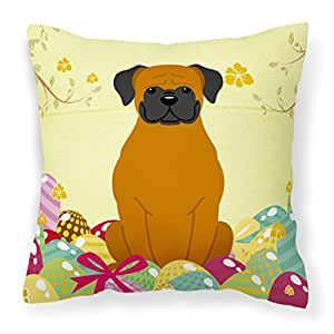 Caroline tesoros del bb6115pw1818huevos de Pascua Fawn Boxer Tela almohada decorativa, 18x 18cm, multicolor