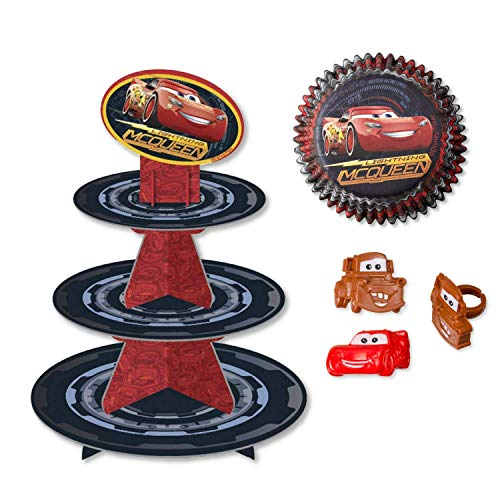 Cars Cupcake Stand Kit with Liners and