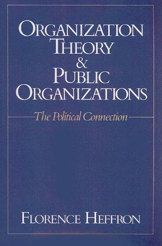 Organization Theory & Public Organizations