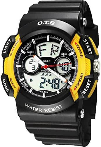 Youth outdoor sports watches/Fashion waterproof night electronic watch-M