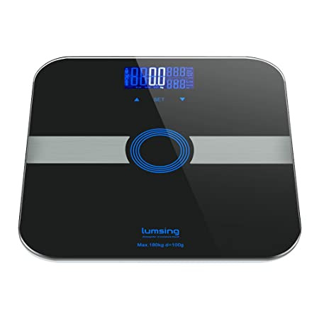 LUMSING Báscula Digital Inteligente de alta precisión. Monitoriza peso corporal, grasa corporal, índice de masa corporal (IMC),agua, masa muscular y ósea ...