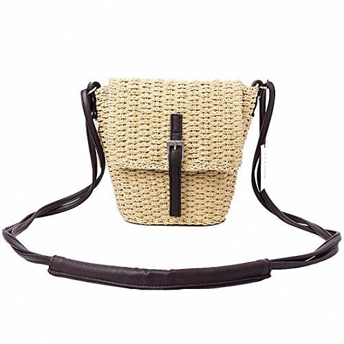 Handwoven Crossbody Style Beach Backpacks Bag Omelas Straw Bag 6 Women Handbags Shoulder Rattan qwPU8txO