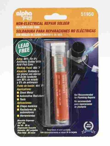 Amazon.com: Alpha Fry AM51950 95/5 Solder No Lead Acid Core Solder ...