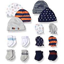 Gerber Baby-Boys Newborn Cars 15 Piece Socks Caps and Mittens Essential Gift Set