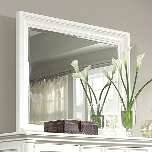 Magnussen 71950 Ashby Patina White Finish Wood Landscaped Mirror