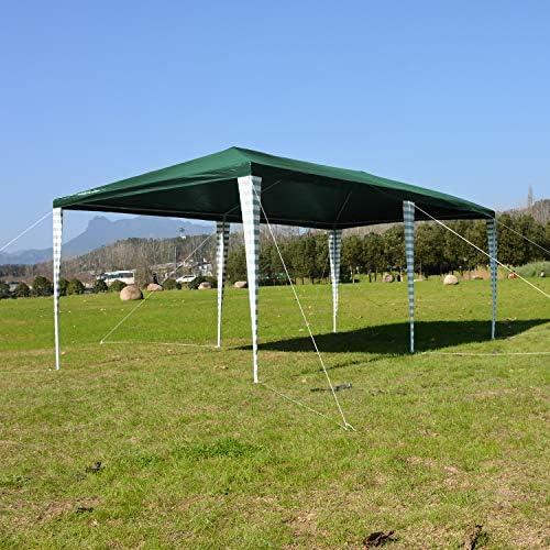 Hengda Cenador de jardín 3 x 6 m con protección UV para Fiestas, Carpa para Bodas y Fiestas al Aire Libre, jardín, Acampada, Verde: Amazon.es: Jardín