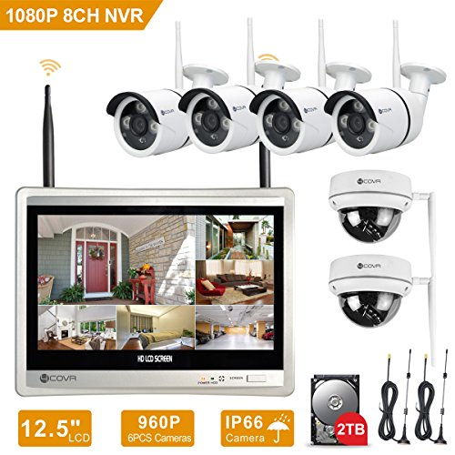 Wireless Surveillance System Forcovr 8 Channel Home