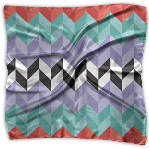 Square Scarf Women's Square Headscarf Square Neck Head Scarf Scarves Zig Zag Ladies Square Hair Scarves 39