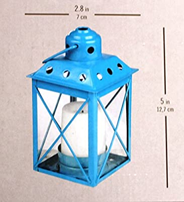 3-Pack Metal Lantern With LED Votive Candle
