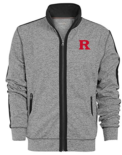 Ncaa Rutgers Scarlet Knights Mens Premium Full Zip Track Jacket  Xx Large  Gunpowder
