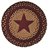 Star Braided Table Mat Burgundy Country Decor