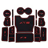 13pcs/Set Non-Slip Groove Pads Door Slots Cup Holder Slots Mat Replacement for Cadillac ATS