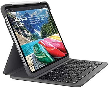 Logitech Slim Folio Pro Funda para iPad con Teclado Inalámbrico Bluetooth, iPad Pro 11 Pulgadas 1.ª Generación Modelos: A2228, A2068, A2230, A2231, ...
