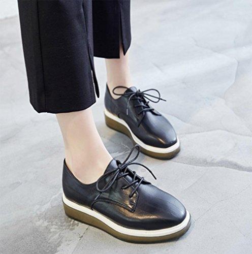 Chaussures Ascenseur Mme Printemps Chaussures Épaisse Croûte Muffin Dentelle Étudiants Chaussures Choisir Chaussures, Us6 / Eu36 / Uk4 / Cn36