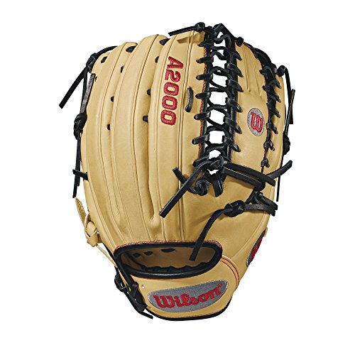Wilson 2018 A2000 OT6 Outfield Gloves - Right Hand Throw Blonde/Black/Red, 12.75