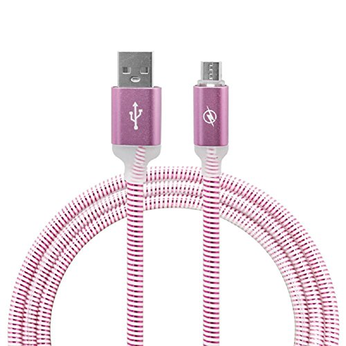Price comparison product image LIYUDL LED Lighting Metal Alloy Micro USB Data Sync Charging Cable For Android Phone