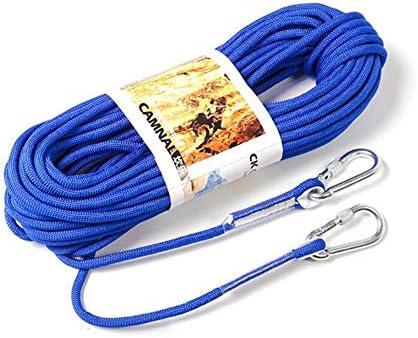 屋外のロッククライミングロープ12の mm の直径の高力生存の安全ロープコードストリングハイキングアクセサリー,Blue,10m
