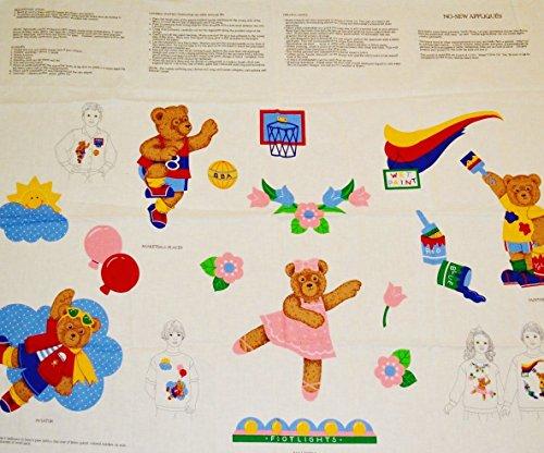 VIP When I Grow Up Teddy Bear No Sew Applique Fabric Panel ~ BASKETBALL, BALLERINA, AVIATOR, PAINTER & (Cranston Print Fabric)