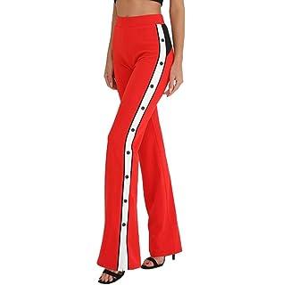 Damen Hosen Sommer Elegant Shorts Lang LHWY Frauen Elastisch Waist Kurz  Hose Zwei Getönten Reversible Pailletten a789c2113b