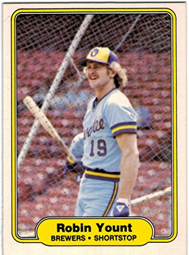 1982 Fleer AL Champion Milwaukee Brewers Team Set with Robin Yount & Paul Molitor - 25 Cards - 1982 Brewers