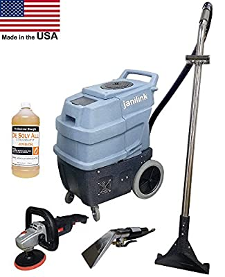 Commercial Grade 500 PSI carpet extractor with 2 water heaters, three 2 stage vacuum motors, 2 wands From Janilnk