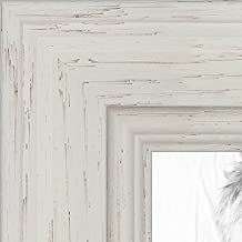 ArtToFrames WOM0066-78238-YWHT-11x14  8x12 inch Off White Stain on Solid Wood Wood Picture Frame, WOM0066-78238-YWHT-8x12