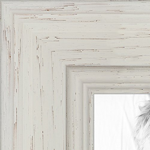ArtToFrames 20x24 inch  Off White Stain on Solid Wood Wood Picture Frame, WOM0066-78238-YWHT-20x24 24 Wood Picture Frame Frames