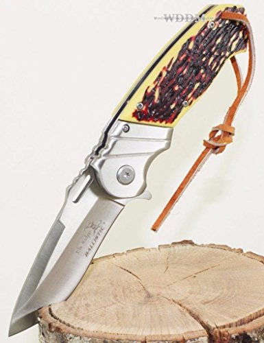 8.5″ ELK RIDGE Bone Gentleman SPRING ASSISTED OPEN Hunting Folding POCKET KNIFE