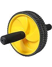 بكرة دفع دوارة مزودة بعجلتين لتقوية عضلات البطن، دفع يدوي للعجلات