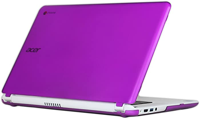 "iPearl mCover Hard Shell Case for 15.6"" Acer Chromebook 15 C910 / CB5-571 / CB3-531 / CB3-532 Series Laptop (Purple)"