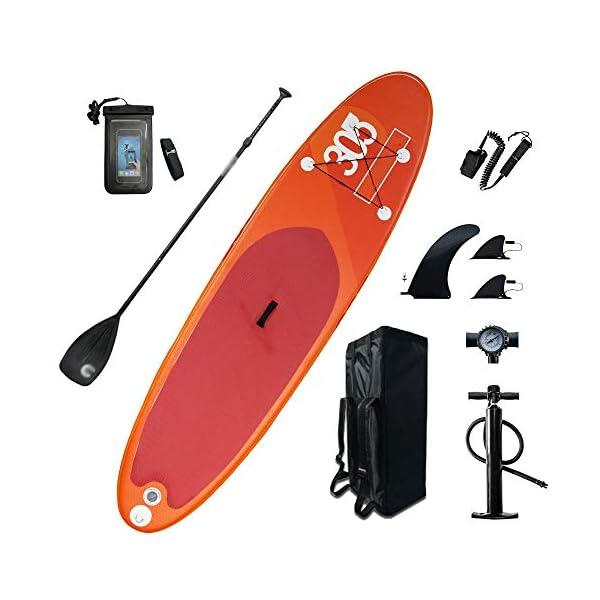 Stand Up Paddel Gonfiabile Gonfiabile ampio stand up paddle pensione 6 pollici di spessore SUP Board con SUP Accessori… 1 spesavip