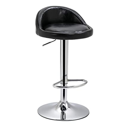 Groovy Amazon Com Barstools Modern Bar Stools Leather Gas Lift Creativecarmelina Interior Chair Design Creativecarmelinacom
