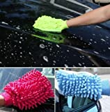 UChic 3PCS Liplasting Washable Car Washing Cleaning Gloves Tool Car Washer Super Mitt Microfiber Cleaning Cloth Random Color