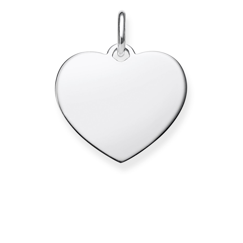 Thomas Sabo Women Pendant Heart Live Love Laugh 925 Sterling Silver LBPE0021-051-21