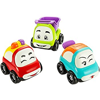 pictek cars toy set of 3 play vehicles push and go friction powered car toys mini. Black Bedroom Furniture Sets. Home Design Ideas