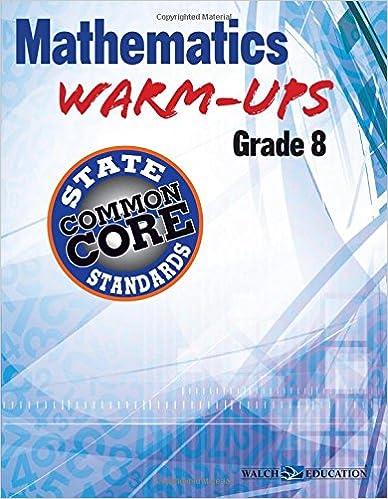 Book Mathematics Warm-Ups for Ccss, Grade 8