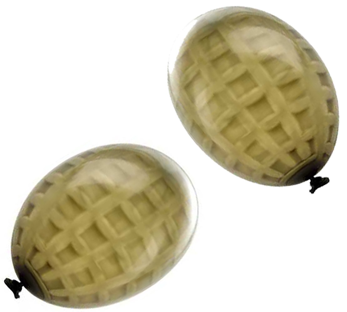 Cool & Fun {36 Count Pack} of 3'' - 6'' Inch ''Standard Size'' Water Balloon Bomb Grenades Made of Latex Rubber w/ Cool Fun War Team Combat Hand Grenade Army Design {Green & Black Colored}