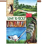 Premier 52024 House Illuminated Flag, Love Golf, 28 by 40-Inch Review