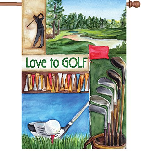 Premier 52024 House Illuminated Flag, Love Golf, 28 by 40-Inch (Golf Halloween Costume)