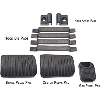 Pedal and Hood Pad Kit Land Cruiser FJ40 & BJ40 Series - 1958 to 1978